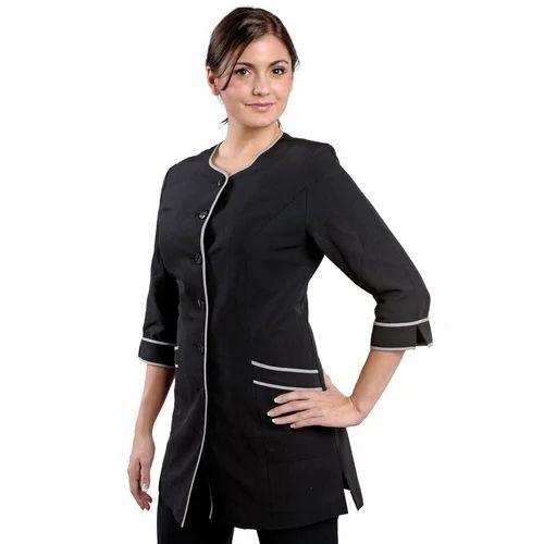 Cotton salon uniform rs 350 set aaditya uniforms for Spa uniform images