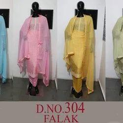 Swaroski Daman N Swiroski Work Silk Cotton Fabric