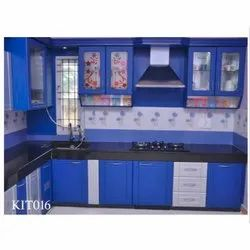 Synthetic Polymer Membrane Material - L Shaped Modular Kitchen