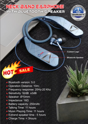 SSM in Ear Earphone Neckband with Bluetooth Speaker, Model Name/Number: VJ097A