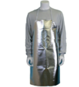 Unisex Silver Fireproof Apron