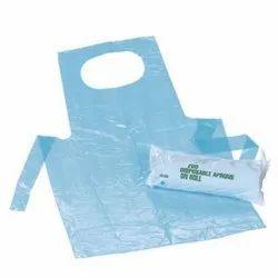 Plain Blue Plastic Disposable Apron for Safety & Protection