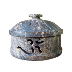 Soapstone Potpuri Boxes With Om Design