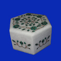 Designer Marble Inlay Box
