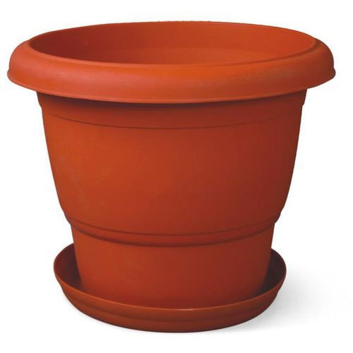 Orange Round Plastic Flower Pot  sc 1 st  IndiaMART & Orange Round Plastic Flower Pot Rs 100 /piece Vaibhav Agency | ID ...