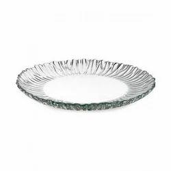 Aurora Round Glass Plate