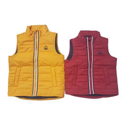 Plain Casual Wear Kids Sleeveless Jacket, Packaging Type: Packet