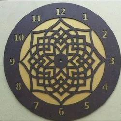 Analog Wooden MDF Wall Clock, For Office