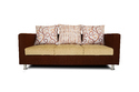 Adorn India Dexter 3 Seater Sofa Digitel Print (Beige & Brown)