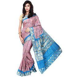 Bandhej Sky Blue Saree