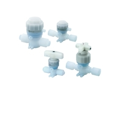 SMC Chemical Liquid Valve/Non-Metallic Exterior/Insert Bushing, Integral Fitting Type LVQ