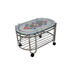 Grey Stainless Steel Decorative Tea Table