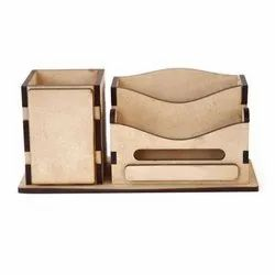 Hans Art Brown Wooden Mobile Pen Holder, For Promotional Gifts, Size/Dimension: 3x3x7inch