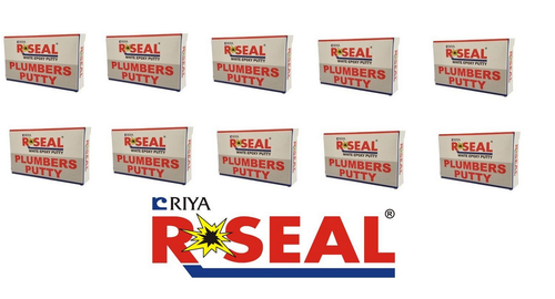 R-Seal Plumbers Putty White Epoxy (50 G) Pack of 10