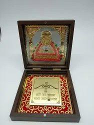 Khatu Shyam Gold Plated Photo Frame Box