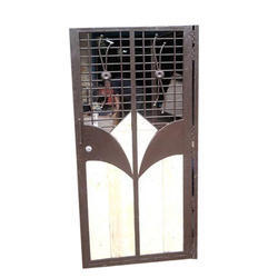 Metal Brown And White Designer Safety Door Rs 1000 Square Feet