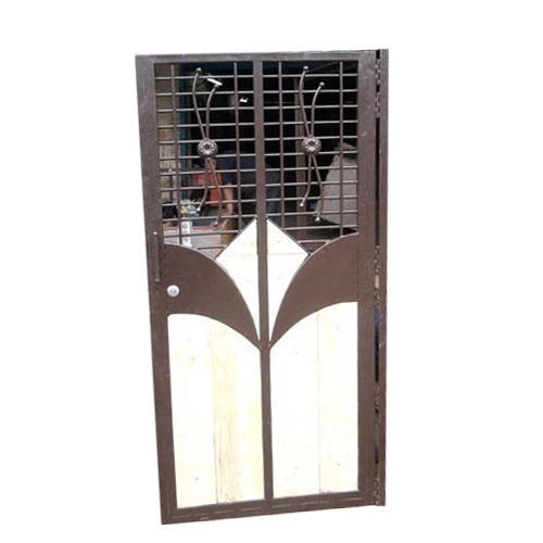 Metal Brown And White Designer Safety Door, Rs 1000