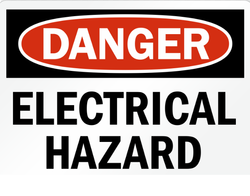 Danger Electrical Hazard Electrical Safety Signs