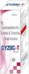 Cyproheptadine HCL, Sorbitol Solution, Tricholine Citrate Syrup