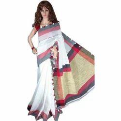 Ladies Cotton Handloom Saree, Length: 6 m