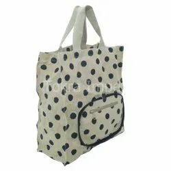 Jute Folding Hand Purse Cum Tote Bag