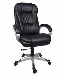 Leather Revolving Office Chair, Black