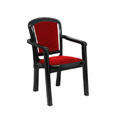 Plush Red And Black Cushioned Plastic Chair, Length: 425 Mm, Height: 870 Mm