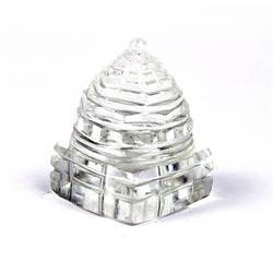 Clear Crystal Quartz Sree Yantra (Lakshmi Yantra / Sri Chakra