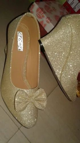 2ca4deb4f Golden Cream Party Wear Ladies Shoes, Size: 6-11, Rs 250 /pair   ID ...
