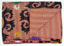 New Cotton Kantha Multi Ikat Handmade Quilt