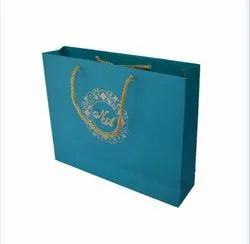 Sky blue Metallic Paper bag