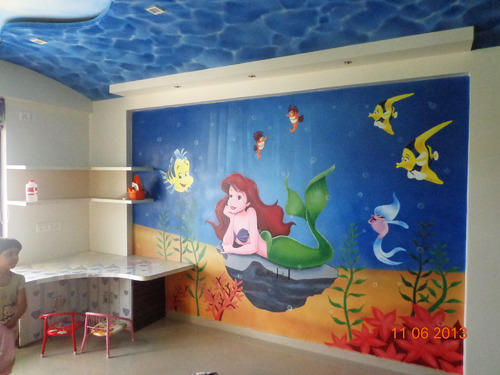 Bon Kids Bedroom Cartoon Painting