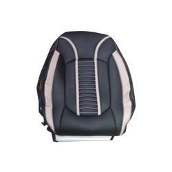 White and Black Stylish PU Leather Car Seat Cover