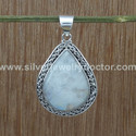 Rainbow Moonstone Jewelry 925 Sterling Silver Pendant