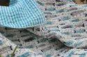 Animal Hand Block Baby Quilt Reversible Baby Cot Comforter Crib Baby Girl and Boy
