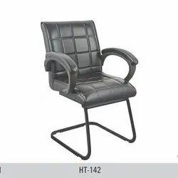 Medium Back Black Visitor Chair