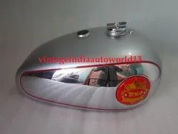 New Bsa Gold Star Silver Painted Chrome Fuel Tank With Cap Red Tank Badges Tap