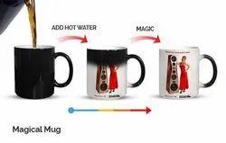 Plain Magic Mug Coffee Sublimation Mug, For Gifting