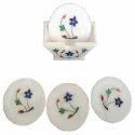 White Marble Coaster Set