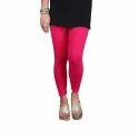 Sassy Curves Plain Rani Color Cotton Lycra Kali Ankle Length Leggings, Size: Free Size