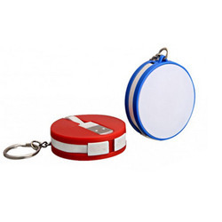 Round Keychain with Multi Connector Data Cable