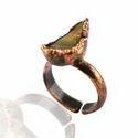 Fire Opal Rough Gemstone Electroformed Rings