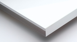 Metallic White High Gloss Acrylic Laminated Board
