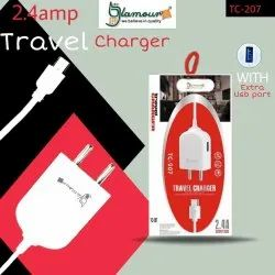 Electric 2.4Amp Glamour Travel Charger, for Mobile Charging