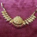 Golden Ladies Partywear Necklace