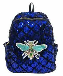 Blue Sequin Kids Backpack