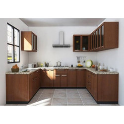 U Shaped Modular Kitchen. Style: Modern
