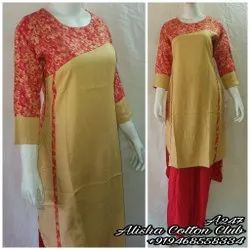 3/4th Sleeve kurti, 140 Gm, Wash Care: Machine wash