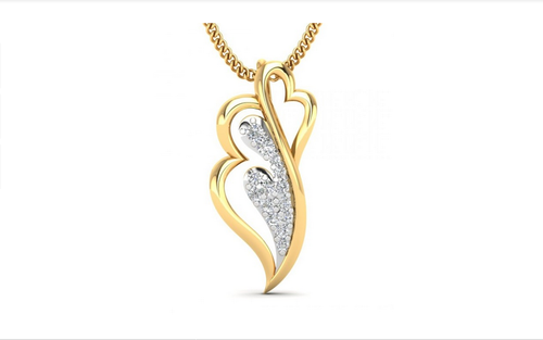 76882a1a5 Pendant In Yellow Gold With Diamonds 100664, Heere Ke Pendant ...