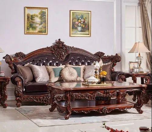 Handmade Wooden Teak Wood Maharaja Sofa Set For Home Size Dimension King Rs 375000 Set Id 22095603755